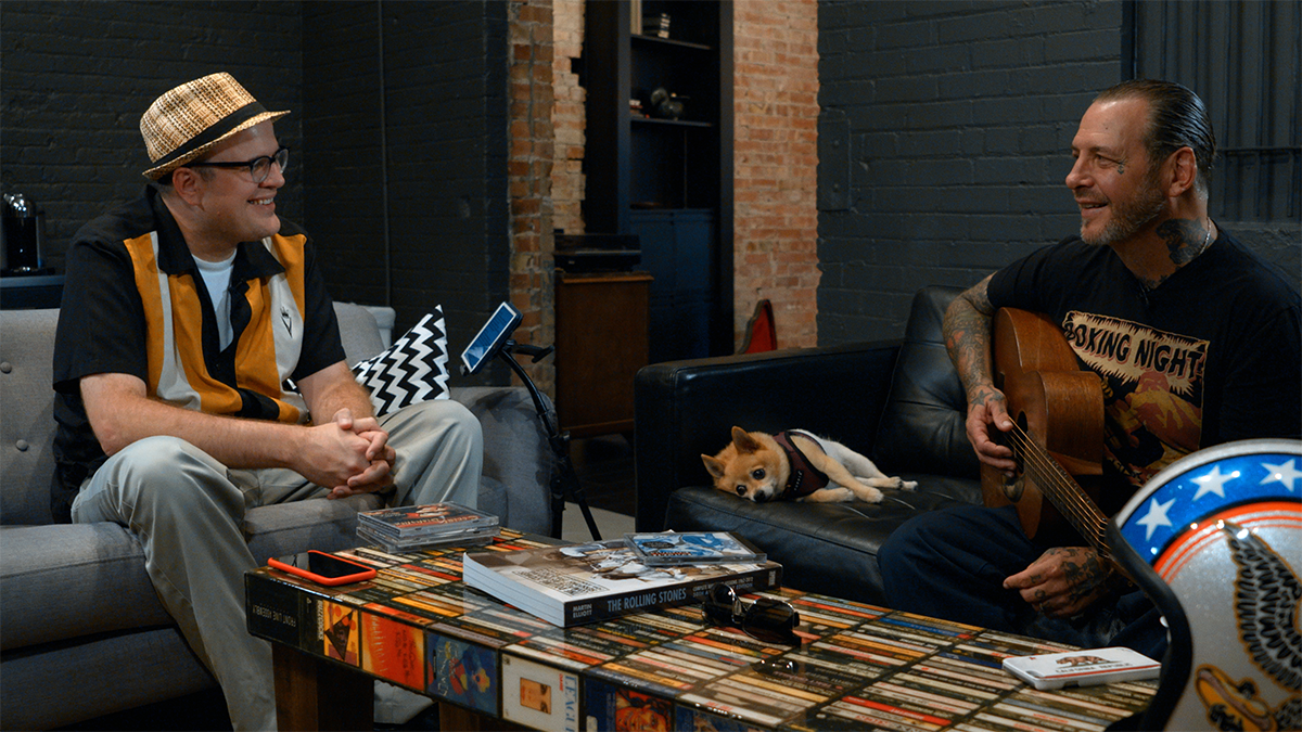 Mike Ness of Social Distortion with The Professor of Rock