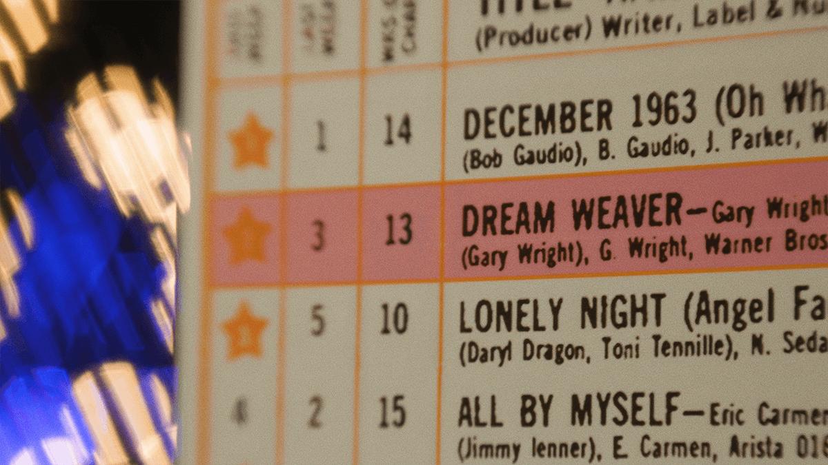 """Dream Weaver"" Gary Wright's 1976 hit single."