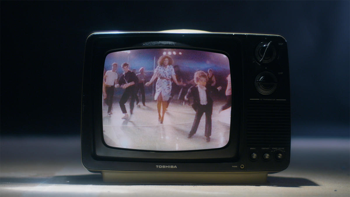"Music Video Still from ""Let's Hear it for the Boy"" by Deniece Williams"